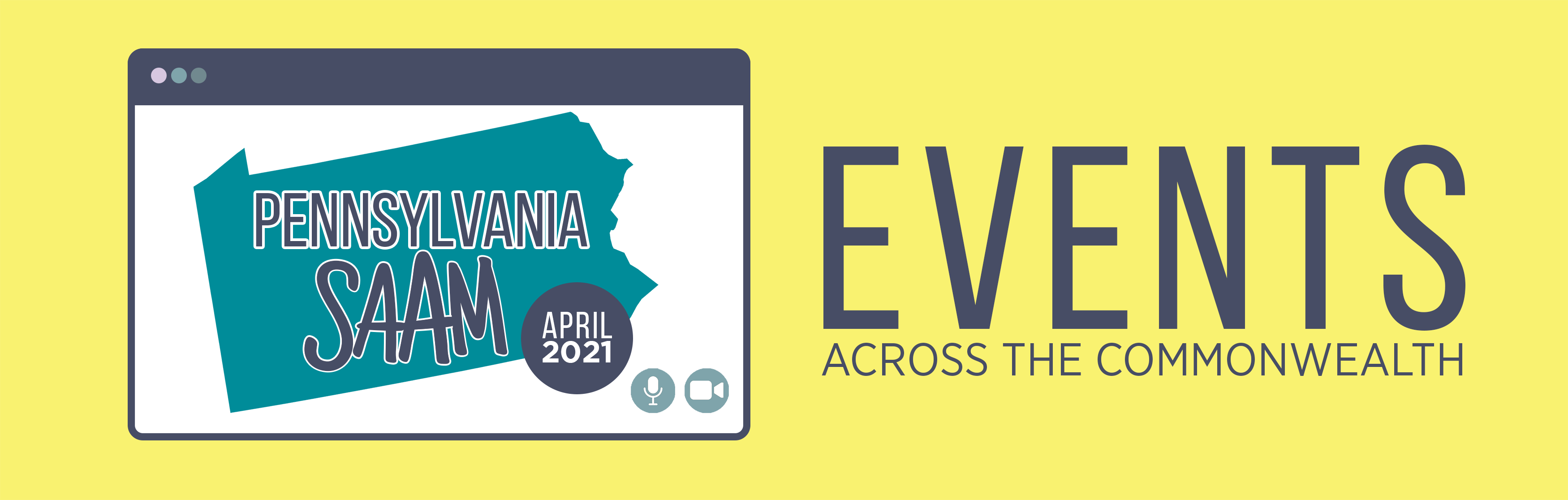 Pennsylvania SAAM April 2021: Events Across the Commonwealth